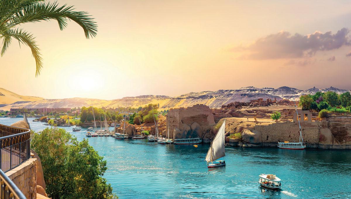 老卡塔拉特酒店可以俯瞰尼羅河上的美景