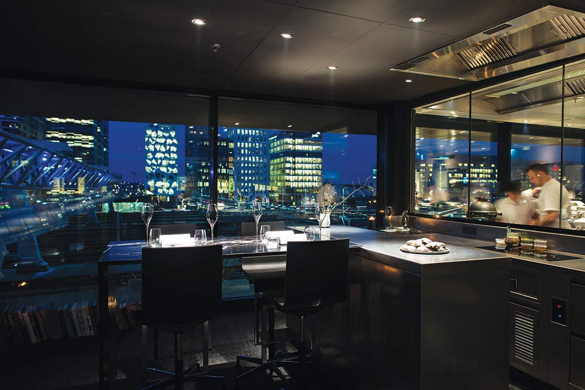 The interior of Maaemo restaurant