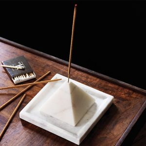 CB2 SAIC PYRAMID INCENSE STICK HOLDER WITH TRAY